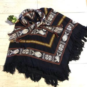 Tribal print poncho boho One size fits most